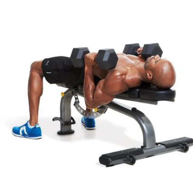 How to do: 1 1/4 NEUTRAL-GRIP DUMBBELL BENCH PRESS - Step 2