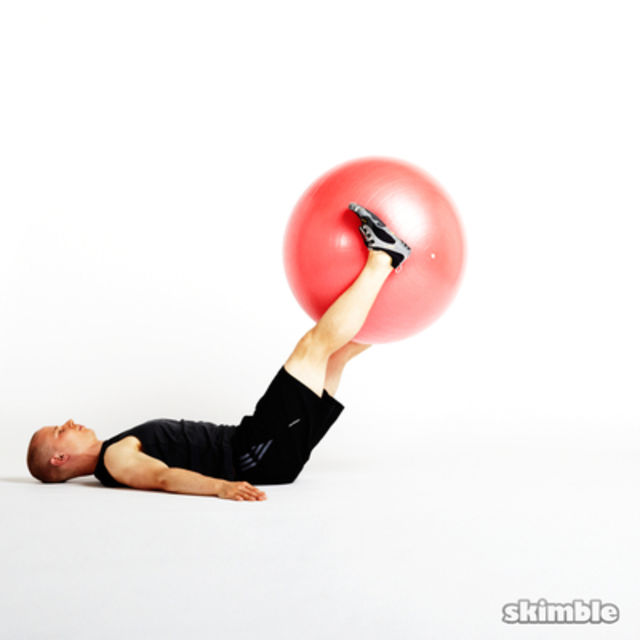 How to do: Ab Ball Raises - Step 1