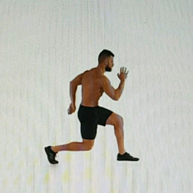 How to do: Alternative Lunges - Step 2