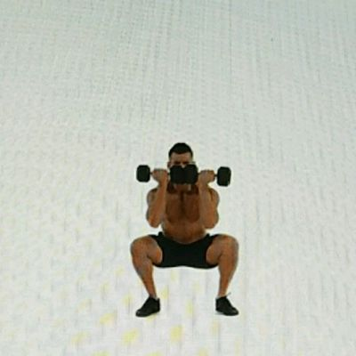 Dumbbells Close-Stance Front Squat