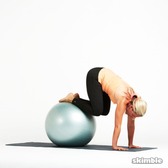 How to do: Ball Plank Pikes - Step 2