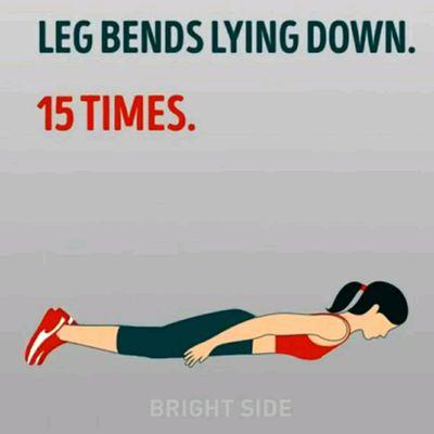 Legs spread lying on side