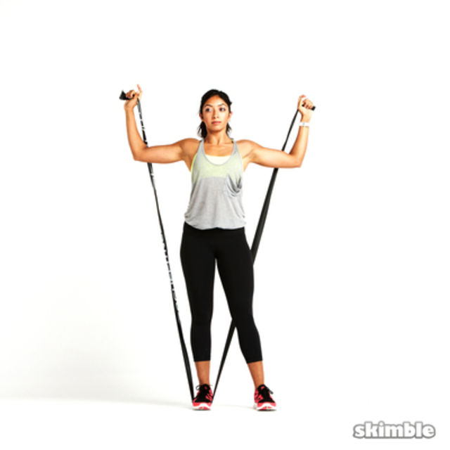 How to do: Band Shoulder Press - Step 3