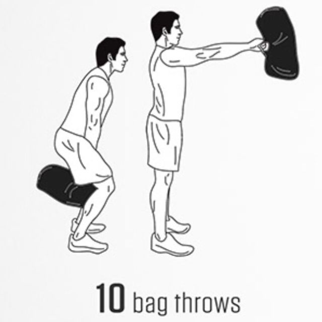 How to do: Bag Swing - Step 1
