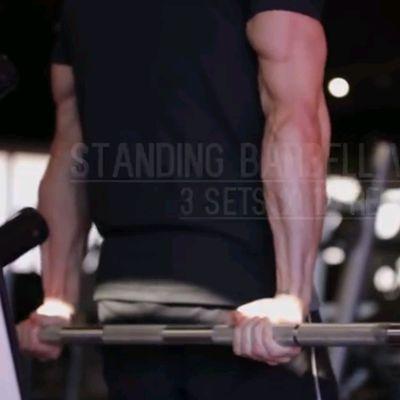 Standing Barbell Wrist Curls