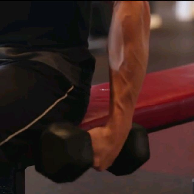 How to do: Seated Dumbbell Wrist  Curls - Step 1
