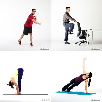 Sitting stretch and exercise