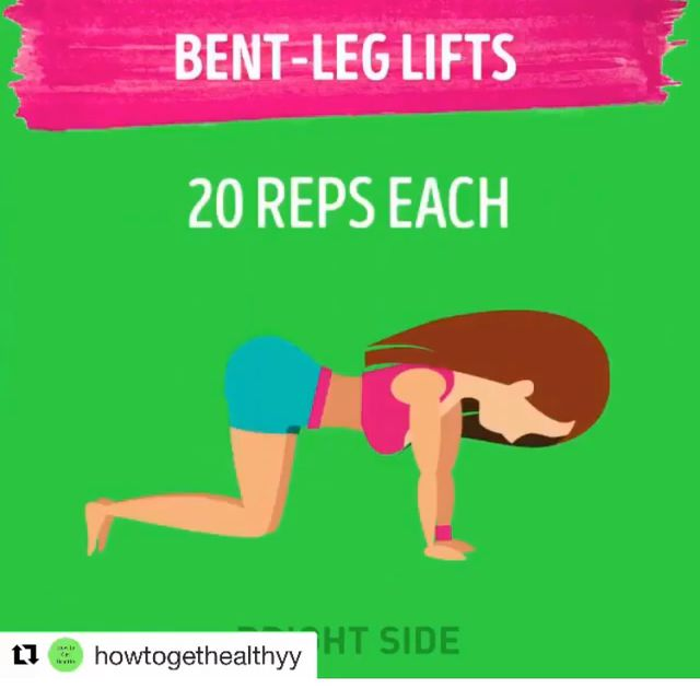 How to do: Bent Leg Lifts- Left - Step 1