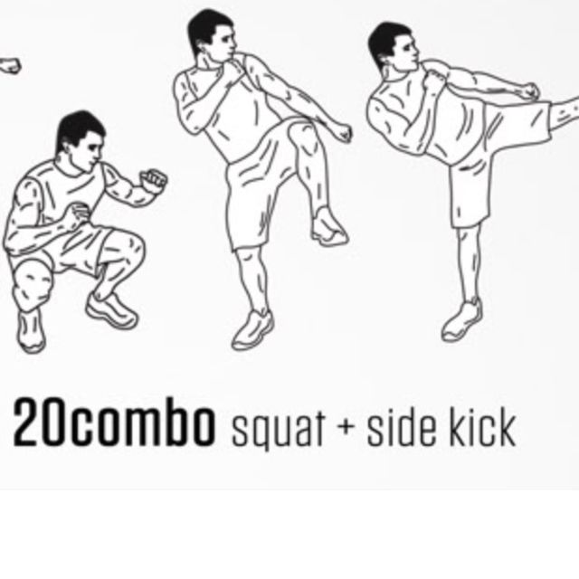 How to do: Squat +side Kick - Step 1