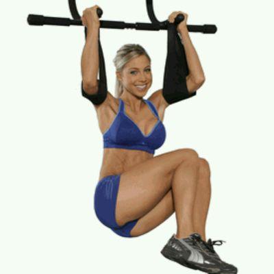 Ab Straps Knee Rotations