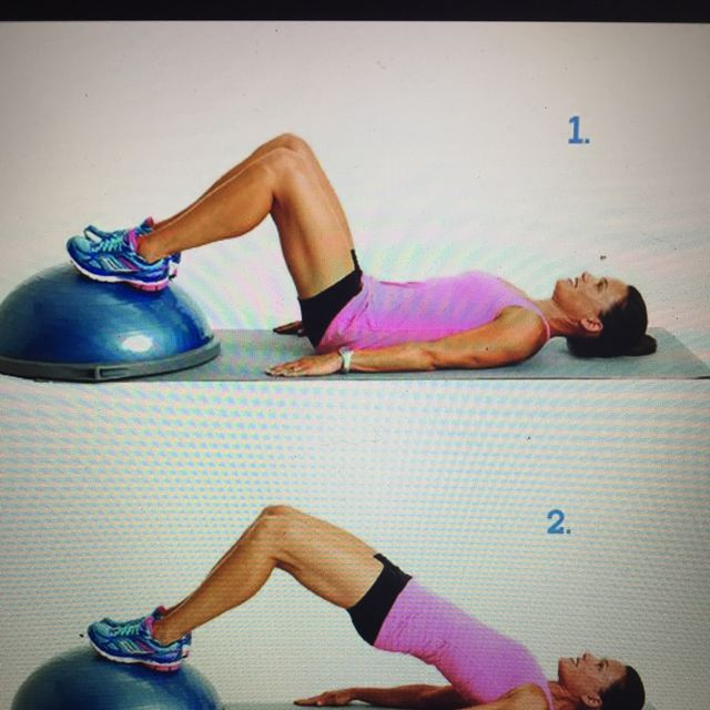 How to do: Bosu Ball Dbl Leg Bridge - Step 1