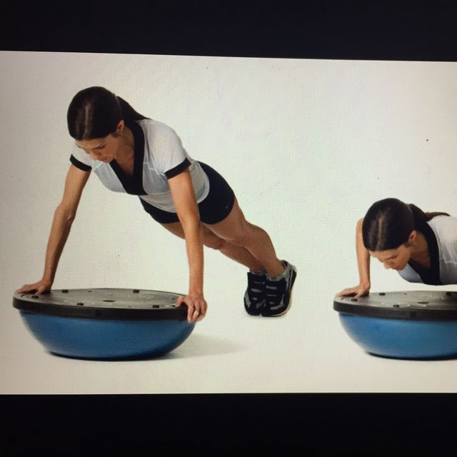 How to do: Bosu Ball Flatside Pushup - Step 1