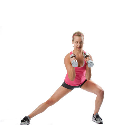 Lateral Lunge with Bicep Curl