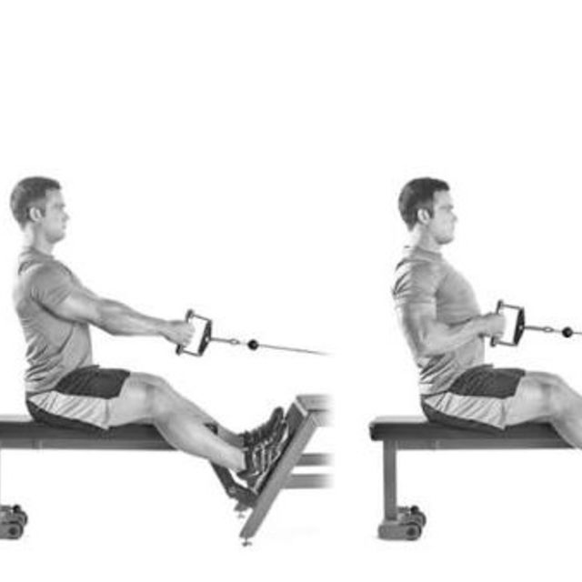 How to do: Seated Cable Row. - Step 1
