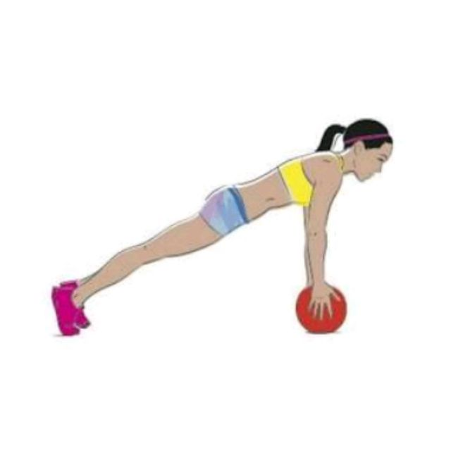 How to do: Ball Plank - Step 1