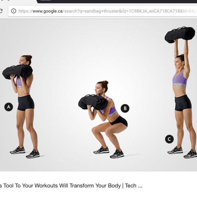 How to do: Sandbag Thruster - Step 1