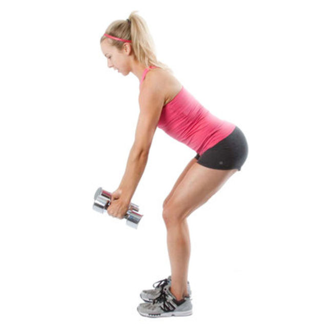 How to do: Dumbell Back Row - Step 1