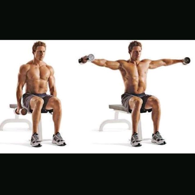 How to do: Seated Shoulders Dumbbell Lateral Raises - Step 1