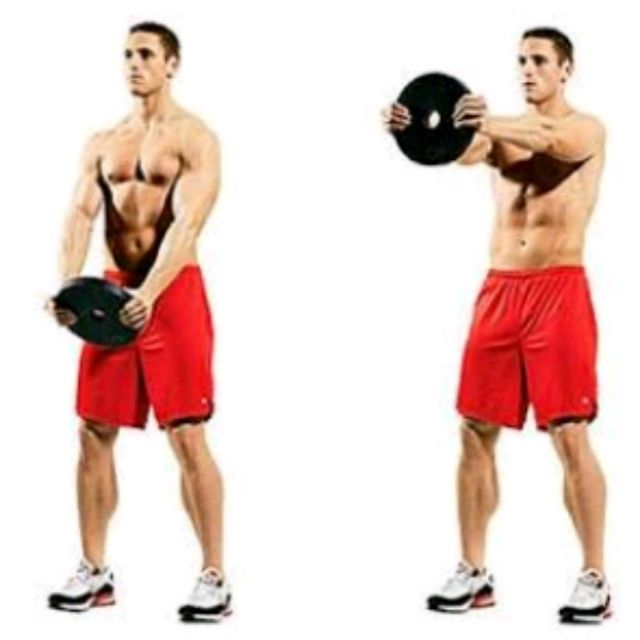 How to do: Plate Front Raises - Step 1