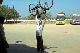 A great cyclist, India