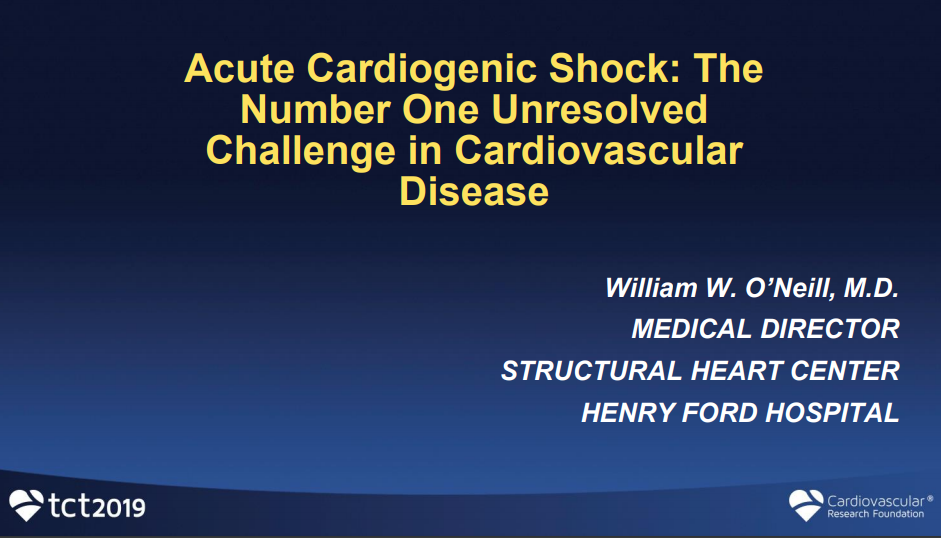 Acute Cardiogenic Shock: The Number One Unresolved Challenge in Cardiovascular Disease