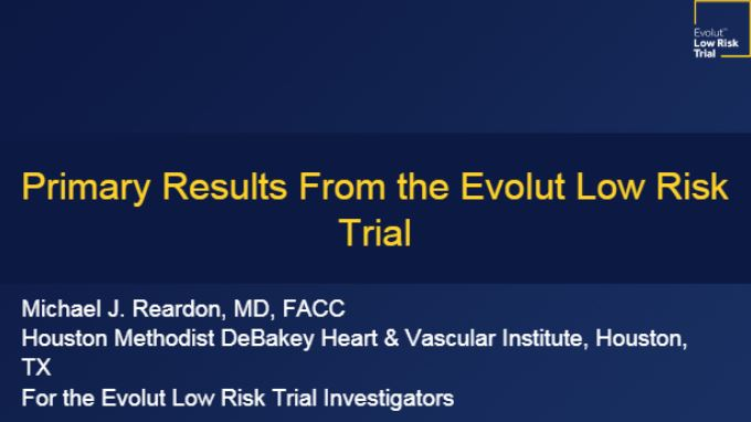 Primary results Evolut Low Risk Trial