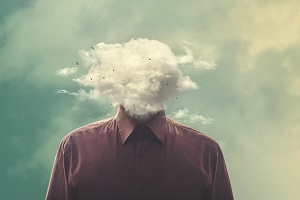 head in cloud