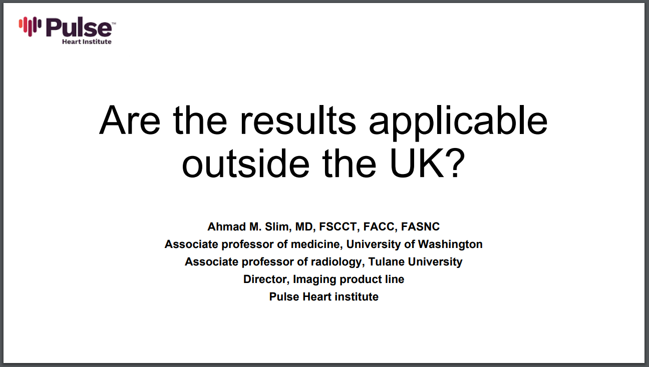 Are the results applicable  outside the UK?