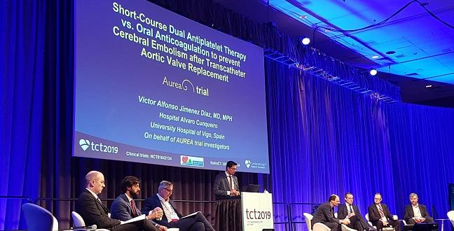 Oral Anticoagulation After TAVR Doesn't Reduce Ischemic Cerebral Lesions: AUREA