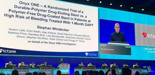 Onyx ONE: Shorter DAPT Plus ZES Noninferior to Polymer-Free Stent in High-Bleeding-Risk Patients