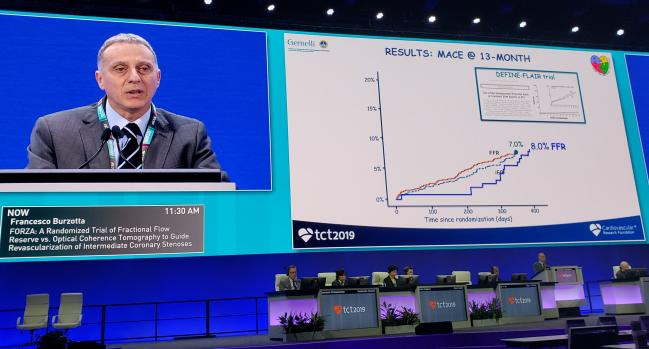 FORZA: For Intermediate Lesions, OCT-Guided PCI Costs More, Yields Better Outcomes vs FFR