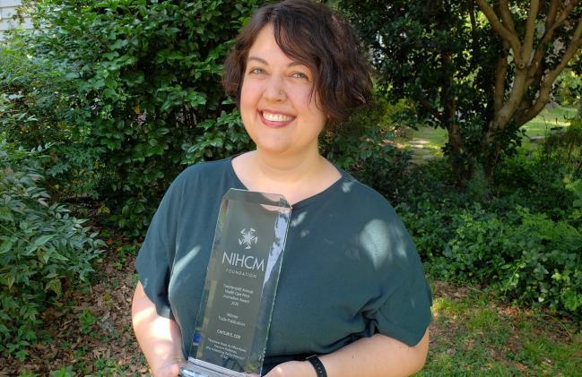TCTMD's Caitlin E. Cox Wins NIHCM Journalism Award