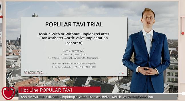 Go With Aspirin Alone After TAVR When Anticoagulation Isn't Needed: POPular TAVI