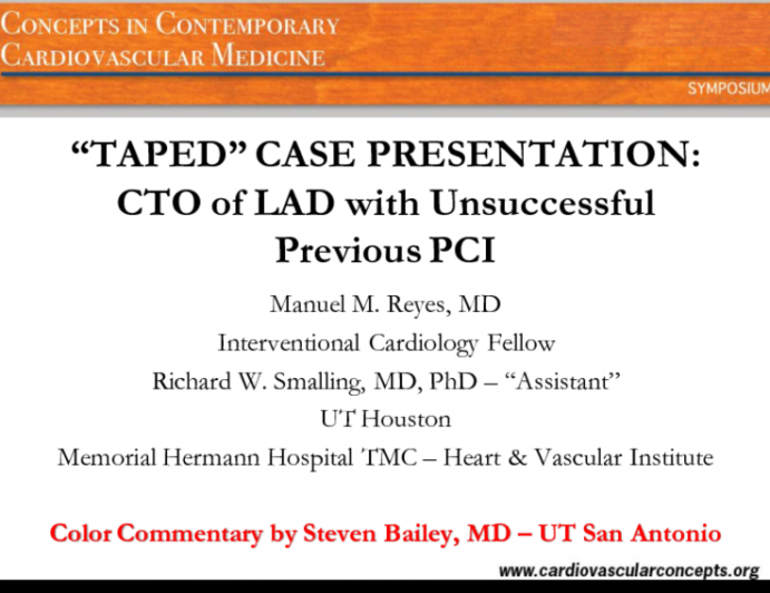 CTO of LAD with Unsuccessful Previous PCI