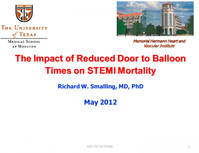 The Impact of Reduced Door to Balloon Times on STEMI Mortality