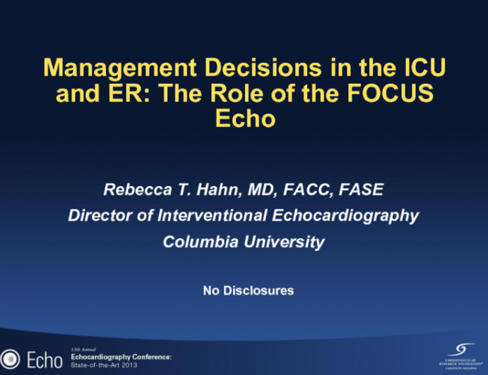Management Decisions in the ICU and ER: The Role of the