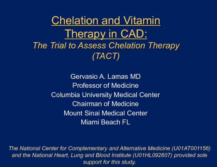 Chelation Therapy and High Dose Vitamin Therapy: Results and Perspectives on the Controversy