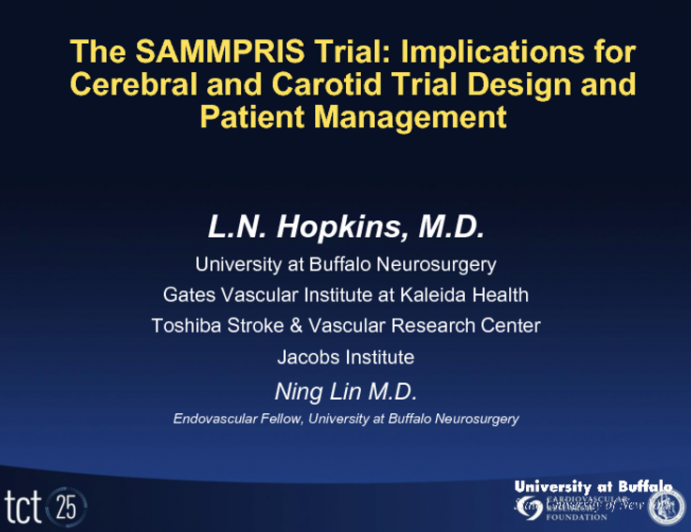 The SAMMPRIS Trial: Implications for Cerebral and Carotid Trial Design and Patient Management