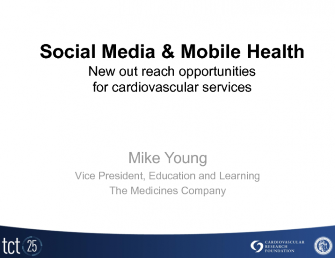 Social Media and Mobile Health: New Out Reach Opportunities for Cardiovascular Services