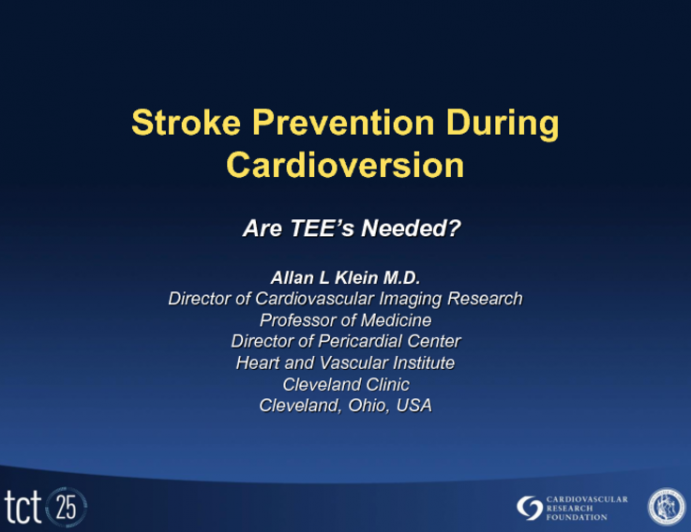 Stroke Prevention During Cardioversion: Are TEEs Needed?