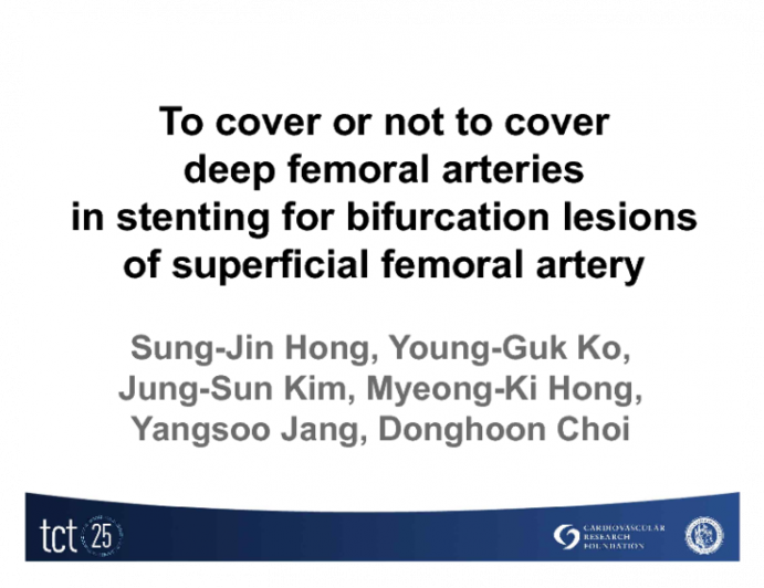 To cover or not to cover deep femoral arteries in stenting for bifurcation lesions of superficial femoral artery