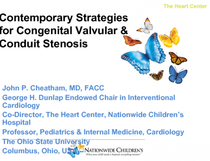 Contemporary Strategies for Congenital Valvular and Conduit Stenosis