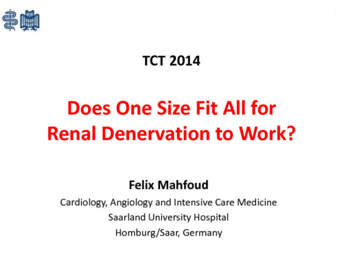 Does One Size Fit All for Renal Denervation to Work? From Symplicity to Complexity