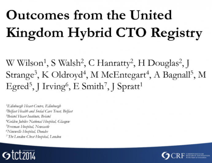 Outcomes From The UK Hybrid CTO Registry