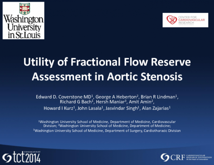 Utility of Fractional Flow Reserve Assessment in Aortic Stenosis