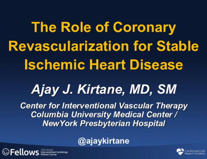The Role of Coronary Revascularization