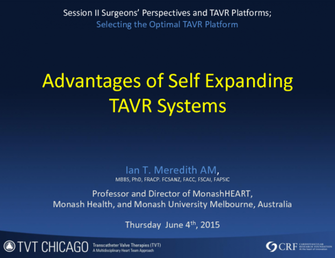 Advantages of Self-Expanding TAVR Systems