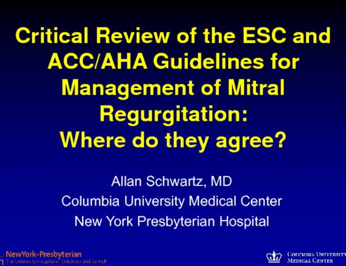 ESC/EACTS 2012 and ACC/AHA 2014 Valvular Heart Disease Guidelines: Where Do They Agree?