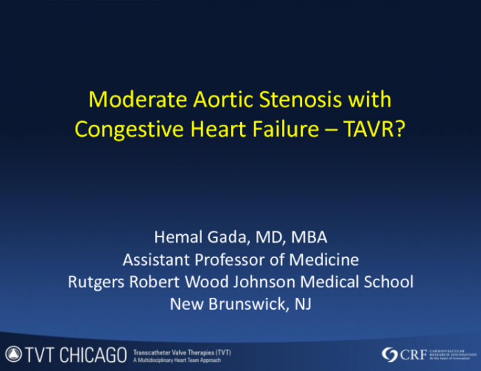 Case Presentation: Moderate AS With CHF and TAVR
