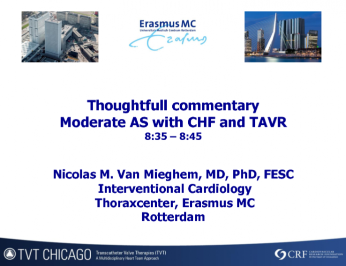 Thoughtful Commentary: Moderate AS With CHF and TAVR